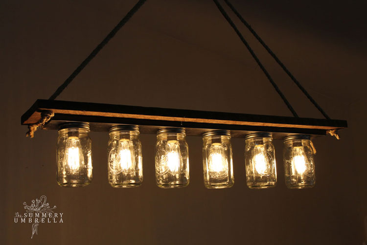 How to easily upcycle a vanity light strip to a hanging pendant light 61215 update ive heard through the grapevines that there have been a few concerns about exploding mason jars and just thought id stop by and provide a aloadofball Images