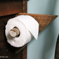 Creating your own DIY Rustic Toilet Paper Holder is not only achievable, but can also be incredibly beautiful as well. All you need is a few supplies!