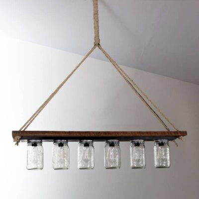 How to Make a Mason Jar Pendant Light