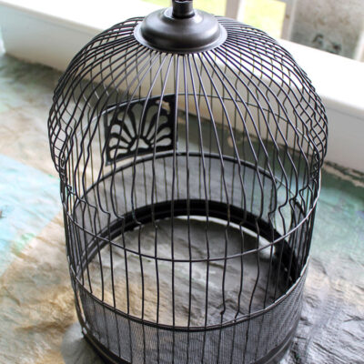 Amazingly Easy DIY Upcycled Birdcage