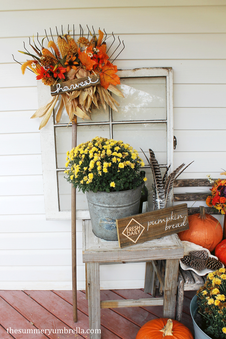 diy fall rake decorations