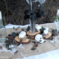 rustic halloween table decor