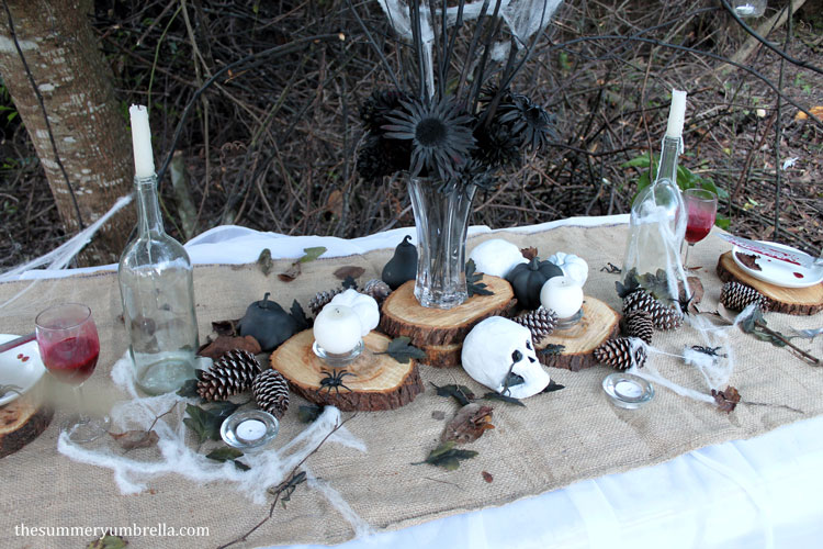 rustic halloween table decor