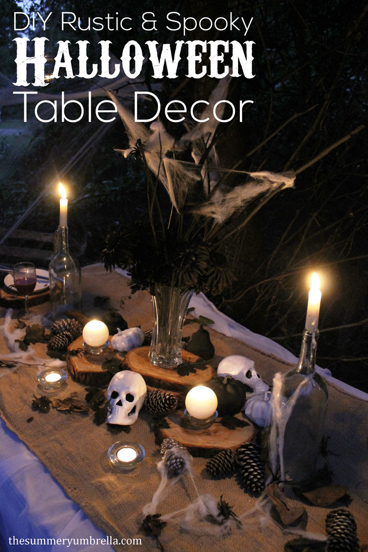 Learn how to design the How to Create the Most Amazing Rustic and Spooky Halloween Table Décor for your next party! Super simple AND gorgeous!