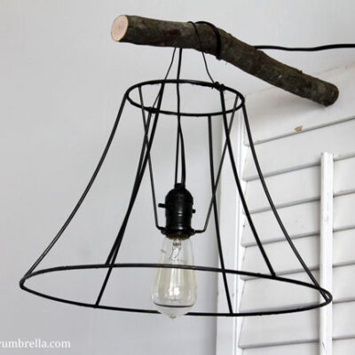 DIY Upcycled Lamp Shade Pendant Light