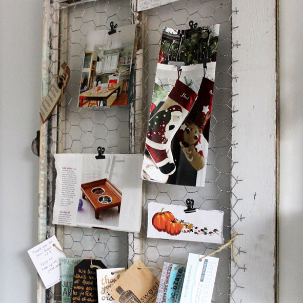 DIY Rustic Reclaimed Window Inspiration Board