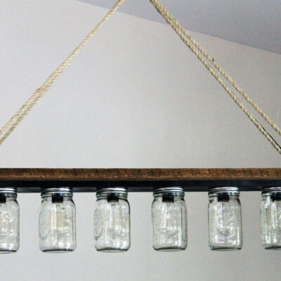 How to Easily Upcycle a Vanity Light Strip to a Hanging Pendant Light