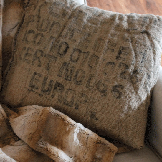 No Sew Burlap Pillow