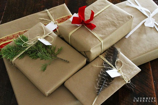 rustic christmas gift wrapping ideas