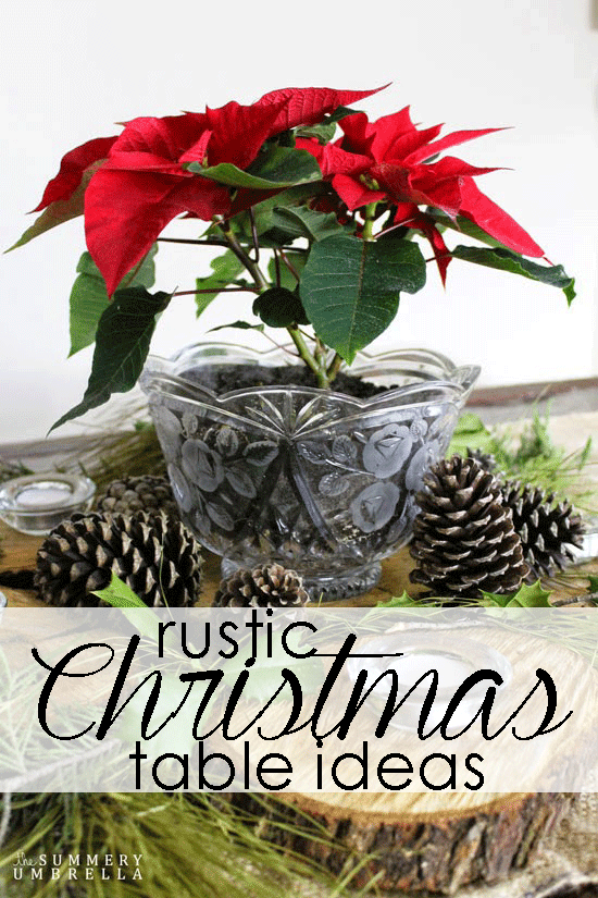 rustic holiday table centerpiece