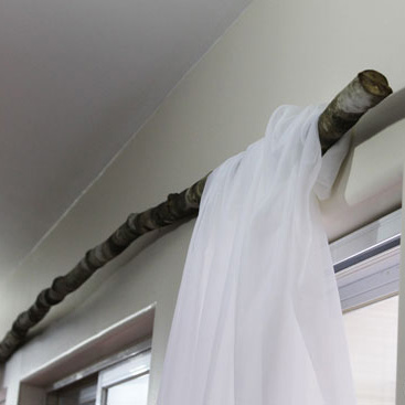 DIY Branch Curtain Rod