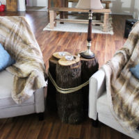 diy tree stump table