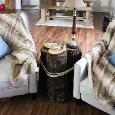 Create an Unique DIY Tree Stump Table for Your Home