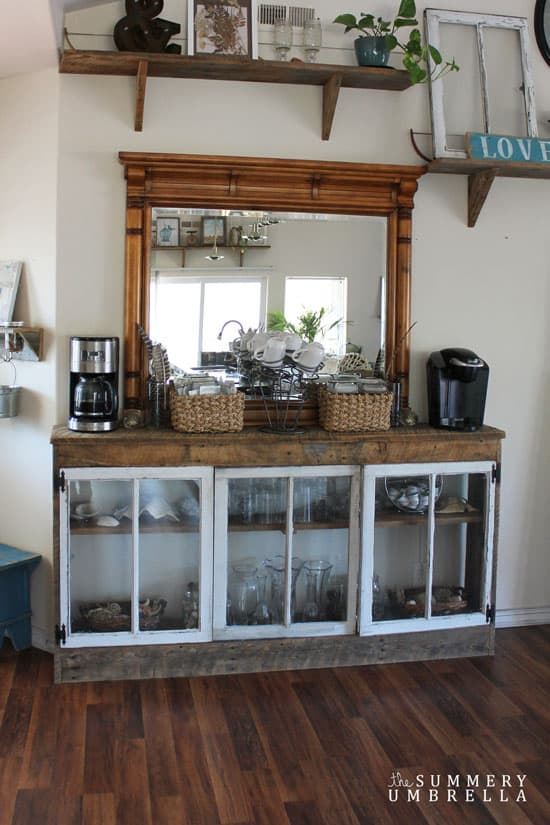 How to make a coffee station the summery umbrella for How to build a coffee bar