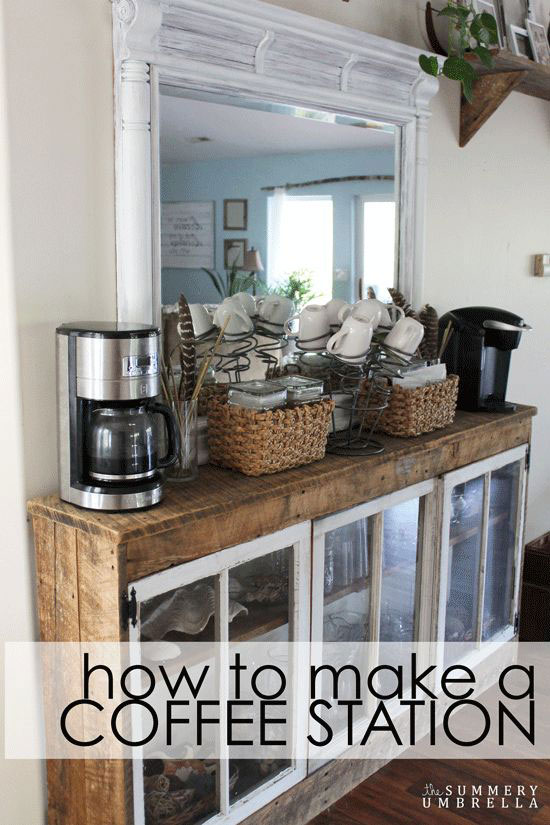 How To Make A Coffee Station Out Of Dresser Mirror