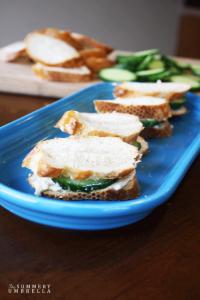 Creamy Cucumber Sandwiches