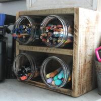 diy wood storage organizer