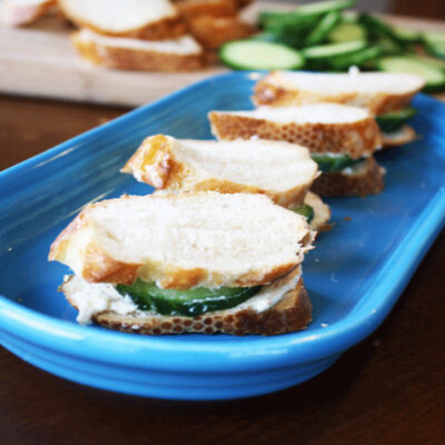 Itty, Bitty, Creamy Cucumber Sandwiches Just For You!