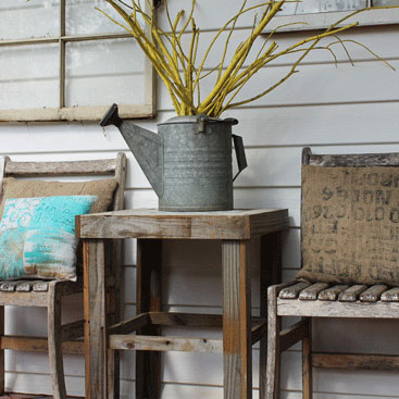 A Rustic Spring Front Porch for Inspiration
