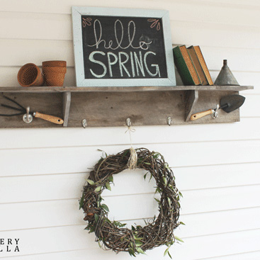 DIY Rustic and Natural Spring Wreath