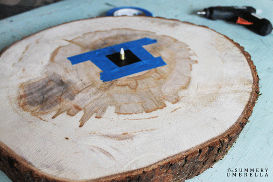 tree stump clock
