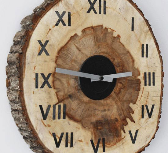 diy wood slice clock