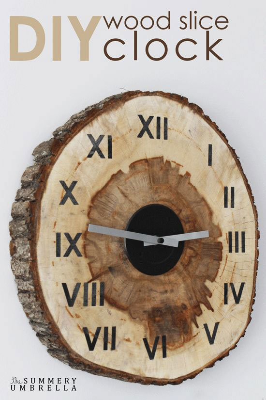 Learn How to Create a Custom DIY Wood Slice Clock