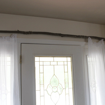 Rustic Front Entrance Curtains