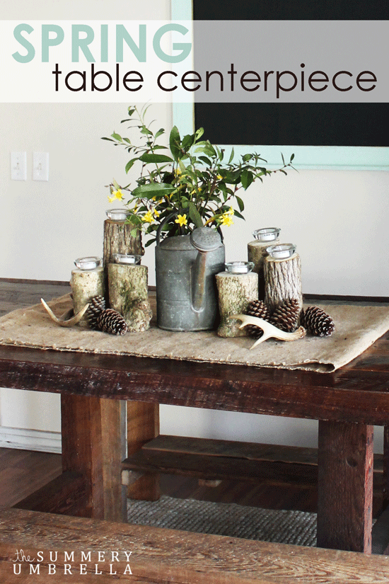 Learn how to create a Rustic and Vintage Inspired Spring Table Centerpiece with items you already have. All you need is something vintage and nature!