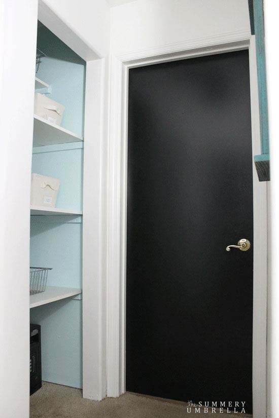 paint black interior doors for an instant sparkle!