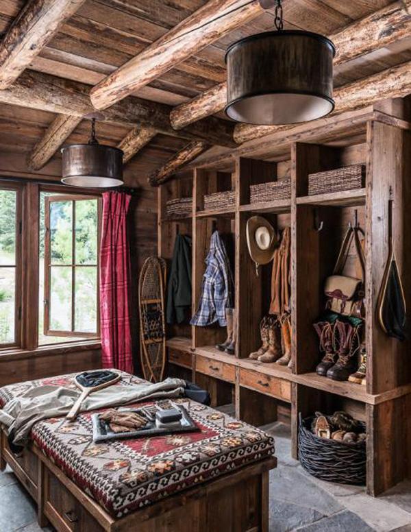 log cabin closet