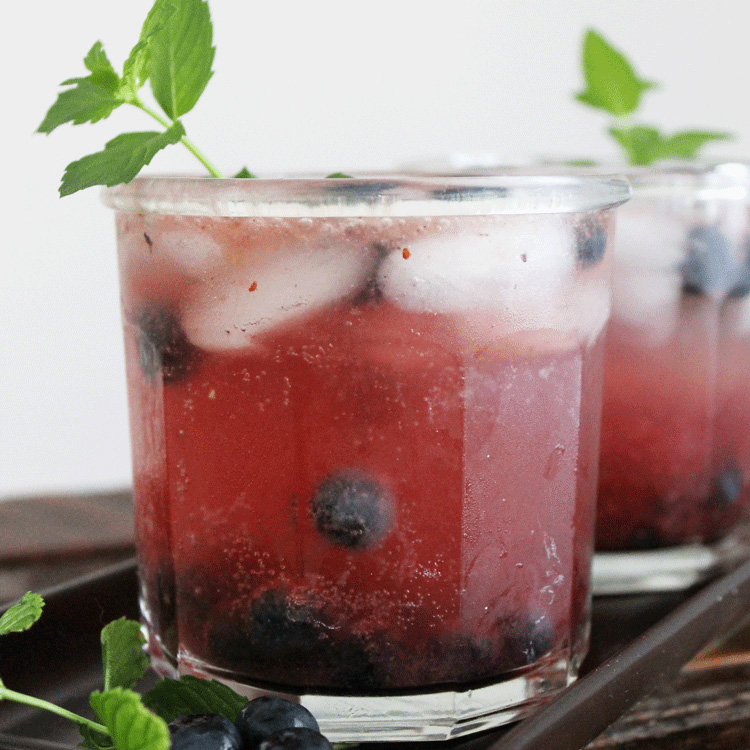 Blueberry Mojito Recipe with Simple Syrup