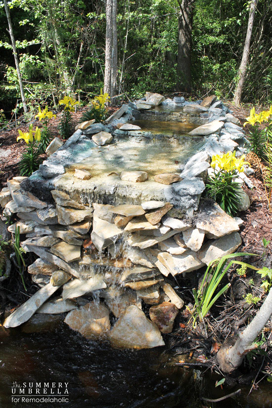 how to build a pond waterfall step by step