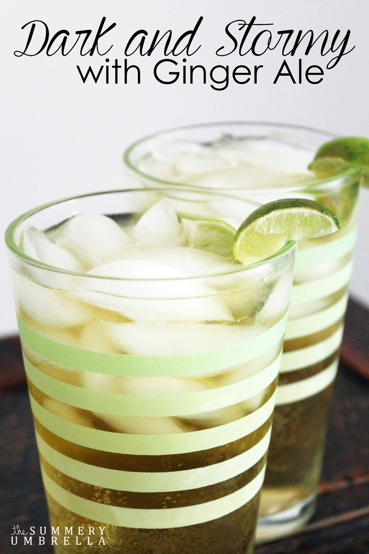 This dark and stormy with ginger ale recipe is not only light and delicious it is also the perfect evening drink after a long day. Enjoy this recipe today!