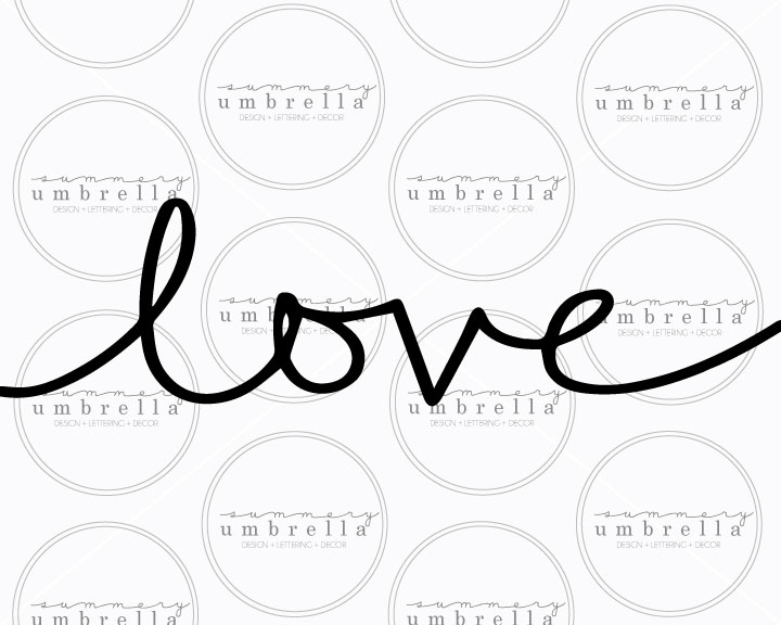 Love printable SVG file from the Summery Umbrella