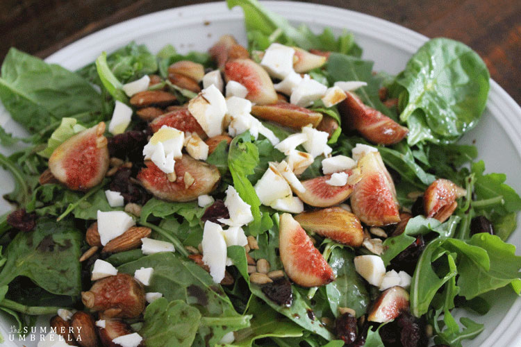 fresh fig and arugula salad