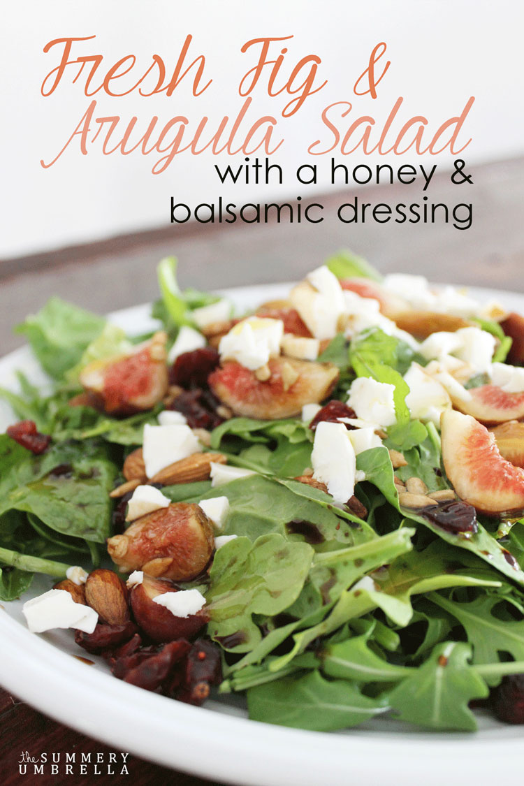 Try something new with this Fresh Fig and Arugula Salad. Not only is it delicious, but very easy to throw together in minutes!