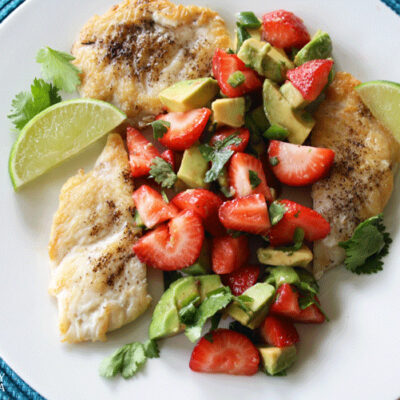 Sautéed Chicken with Strawberry Avocado Salsa