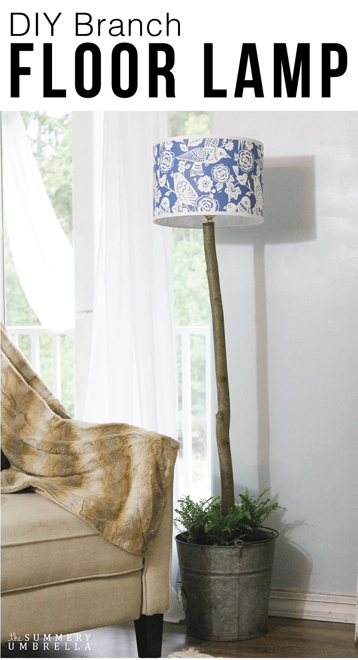 This DIY Branch Floor Lamp is not only beautiful, but incredibly easy to create as well. Let me show you how with just a few simple steps.