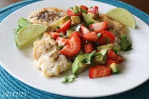 Chicken with Strawberry Avocado Salsa