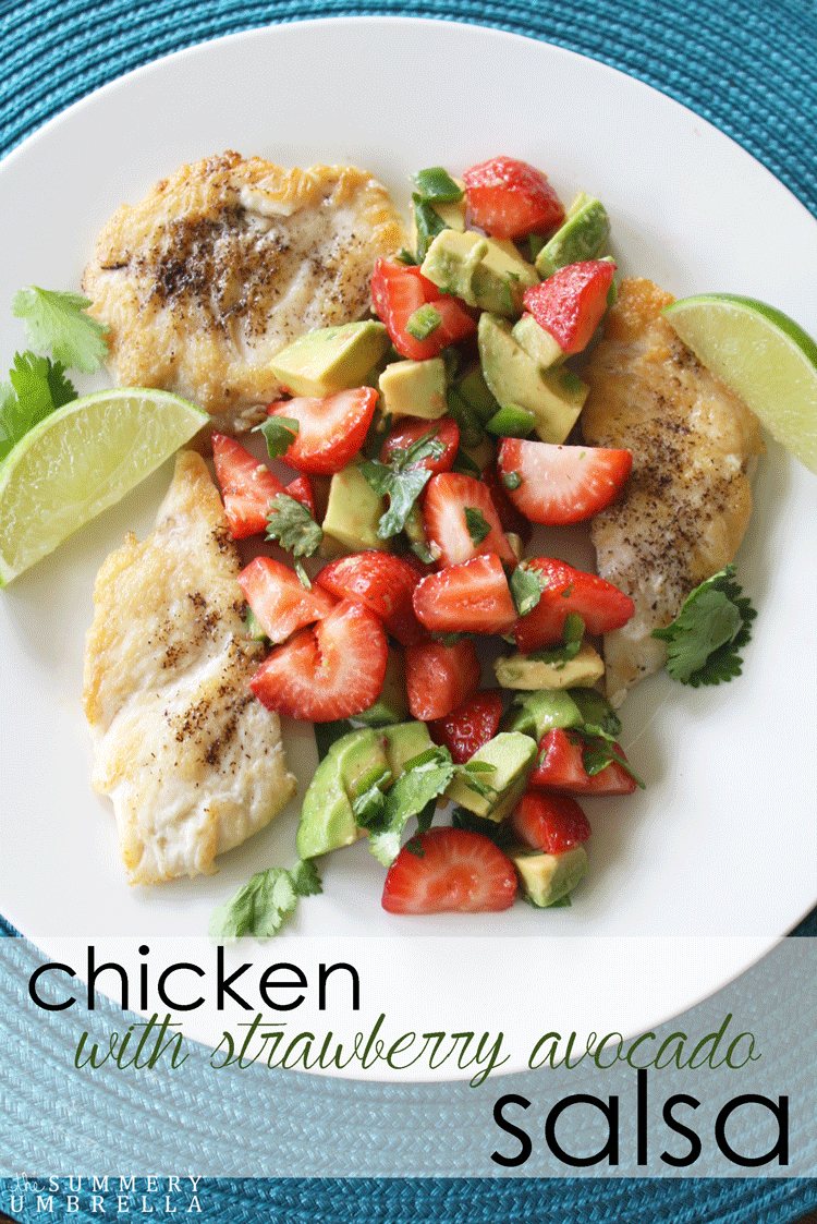You're never going to look at dinner the same way after you've enjoyed this yummy chicken with strawberry avocado salsa dish. It is truly delicious!