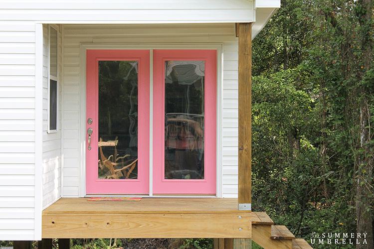 How To Paint A New Exterior Door The Summery Umbrella