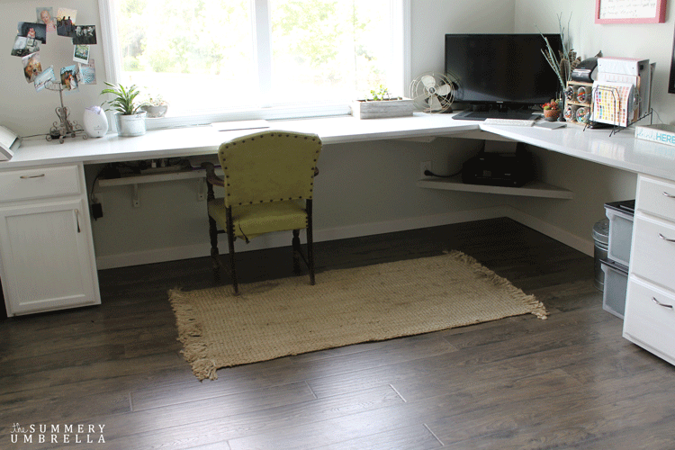 laminate flooring desk