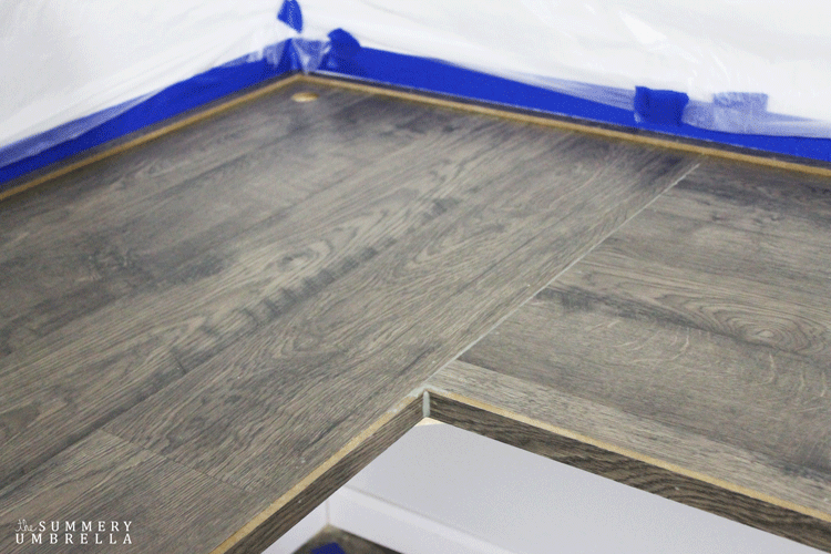 diy laminate flooring table top