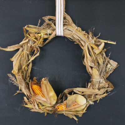 Easy DIY Corn Husk Wreath Perfect for Fall