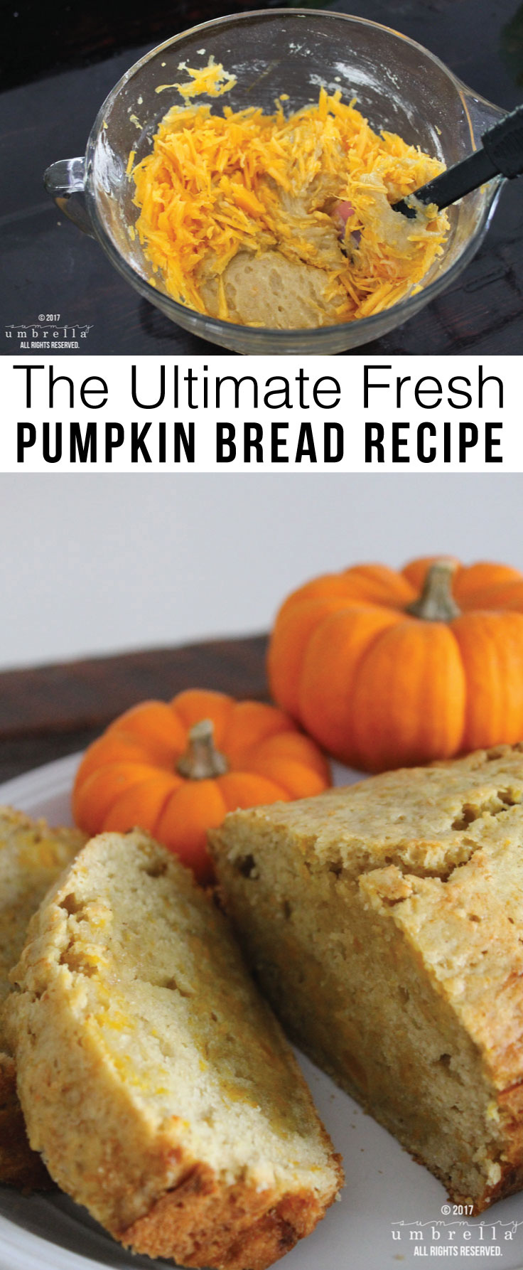 You'll never look at pumpkins the same again after you've tried this recipe for homemade and fresh pumpkin bread. It is truly delicious and addicting!