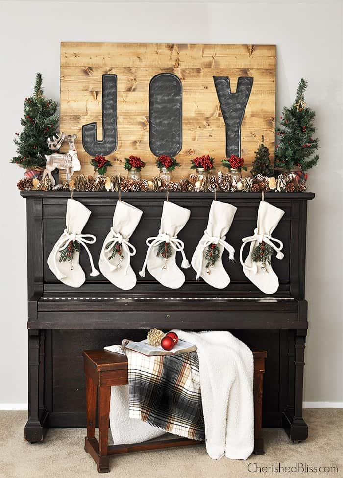 rustic christmas mantle ideas