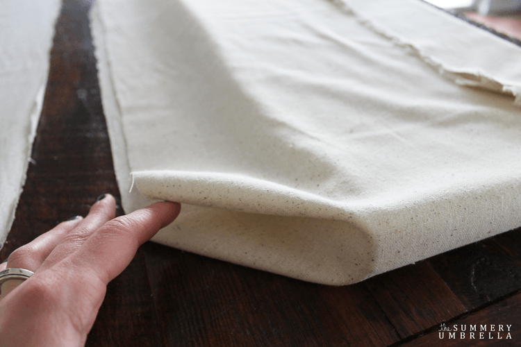 Creating a set of simple bench cushions is soooo much easier than you think, AND easy on your pocketbook. Let me show you how!