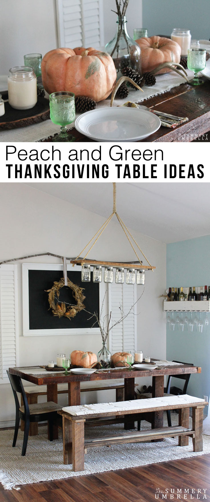 Looking for gorgeous (and super easy!) Peach and GreenThanksgiving Table Ideas? Then you will definitely WANT to check out this lovely array now!