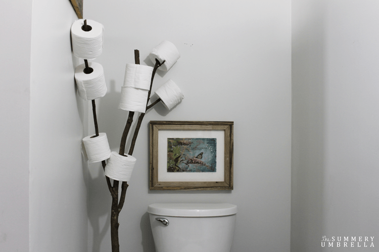 Rustic Bathroom Branch Toilet Paper Holder The Summery Umbrella Extraordinary Bathroom Paper